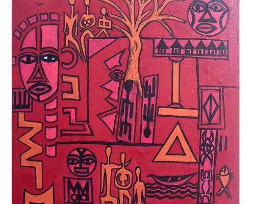 Spiritual_evolution.2008.acrylique_sur_toile.100x100cm